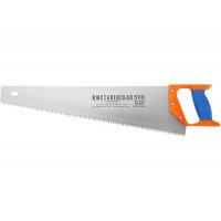 Ножовка по дереву, 400 мм, шаг зубьев 5 мм, пластмассовая ручка (Ижевск) 23162