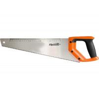 Ножовка по дереву, 400 мм, 7-8 TPI, зуб-2D, каленый зуб, линейка, двухкомпонентная рукоятка Sparta 235015