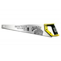 "Ножовка по дереву ""Зубец"", 350 мм, 7-8 TPI, зуб 2D, калёный зуб, 2-х компонентная рукоятка Сибртех 23801"