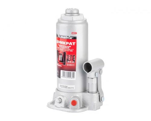 Домкрат гидравлический бутылочный, 8 т, h подъема 230–457 мм Matrix MASTER 50723
