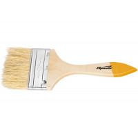"""Кисть плоская Slimline 1,5"""" (38 мм), натуральная щетина, деревянная ручка Sparta 824255"""